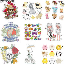 Cartoon cute little dog animal thermal transfer applique iron-on transfers for clothing iron diy patch patches clothes D