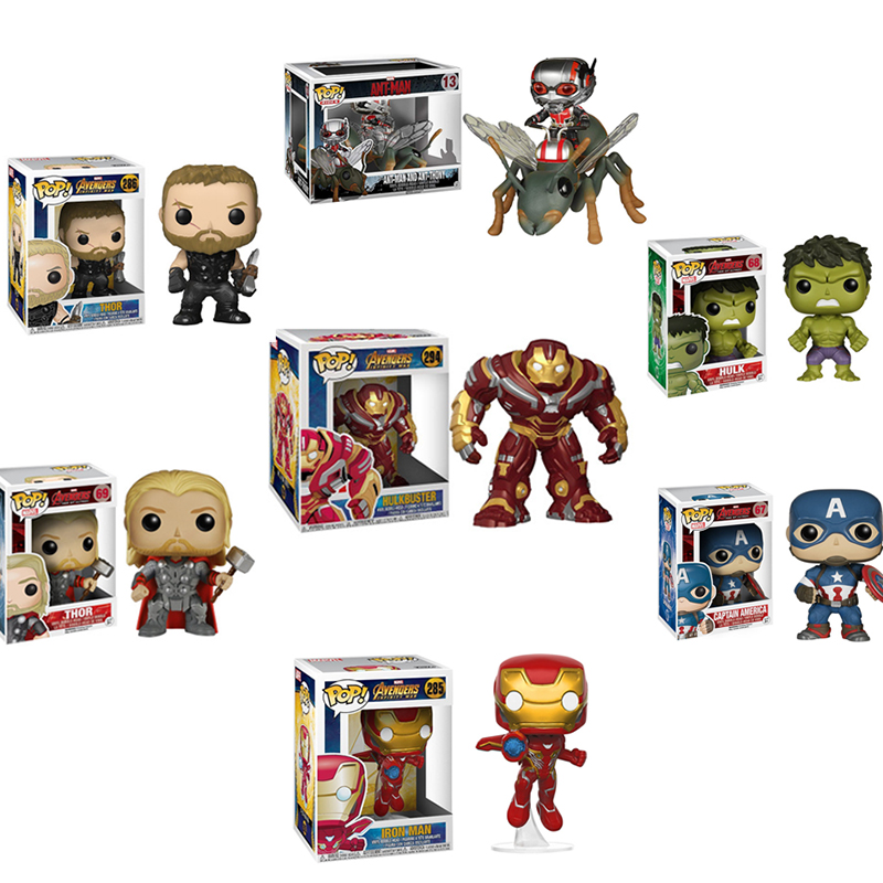 FUNKO POP Marvel Avengers Endgame Infinite War Super Hero Spider-Man Iron Man Pvc Action Figure Collectible Model Kids Toys 2F03