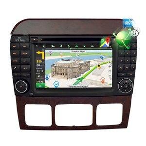 "Image 3 - 7 ""Android10.0 차량용 DVD 플레이어 GPS 네비게이션 벤츠 SCL 클래스 S320 S350 W220 W215 CL600 1998 2005 오디오 비디오 라디오 멀티미디어"