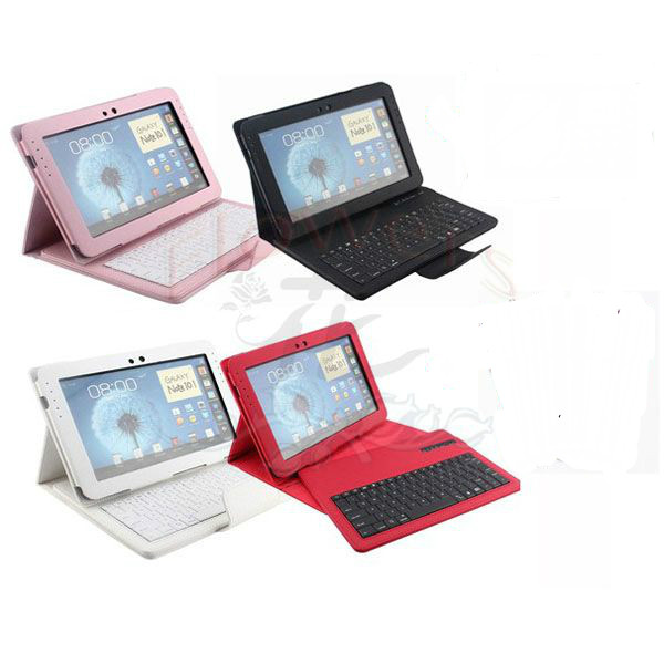 Specialized Wireless Removable Bluetooth Keyboard W/Stand Case Cover For Samsung Galaxy Note 10.1 N8000 N8010 Free pen