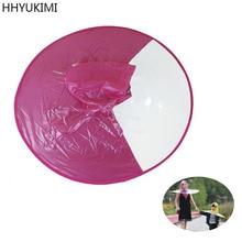 HHYUKIMI Raincoat Umbrella Headwear Hat Umbrella Men Women Fishing Golf Rain Coat Cover Transparent Foldable Hung Outdoor Tools