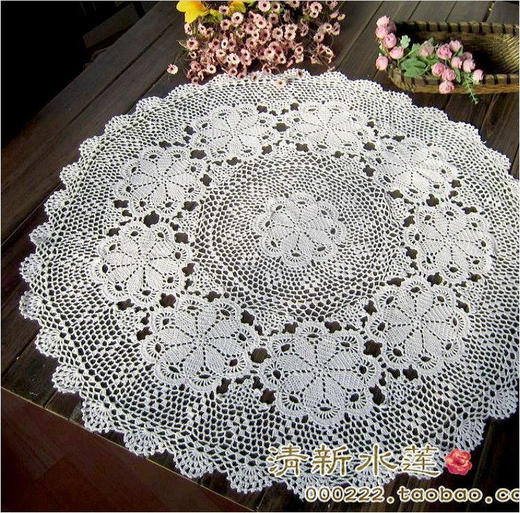 Free Shipping 2014 New Design Cotton Crochet Lace Tea