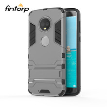Fintorp Case For Motorola Moto G5S G6 Plus Cases Armor Kickstand Hybrid Phone Cover On G5 E5 Covers Coque