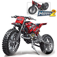 253pcs MOTO Cross Bike Building Blocks Motorcycle Model Educational DIY Bricks Compatible With LegoINGlys Technic Toys