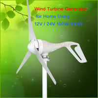 Max Power 130W Wind Turbines Small Home power system use 100W 2.0m/s start up 3 phase ac 12V 24V Wind Generator