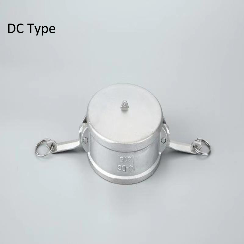 """Type DC 1/2"""" 3/4"""" 304 Stianless Steel Camlock Coupling  Adapter Dust Cap Fitting"""