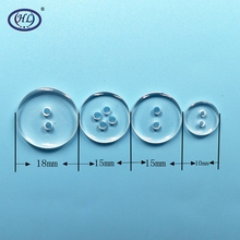 HL 10mm 15mm 18mm Round Shape 2 holes 4  Transparent Resin Buttons Kids Garment Sewing Accessories DIY Scrapbookings