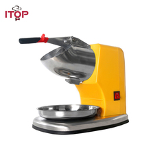 ITOP Commercial Electric Ice Crusher & Shaver Snow Cone slushy Maker Ice Smoothies Blender Maker Machine 110V/220V xeoleo commercial ice crushers 200w semi automatic ice crusher bubble tea electric ice shaver 220v ice planer snow cone machine