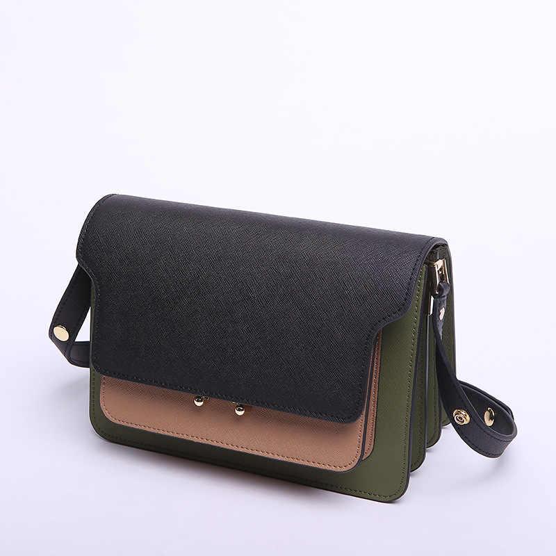 Küçük omuz kadınlar için crossbody çanta 2019 hakiki deri askılı çanta yüksek kalite moda kadın flap çanta