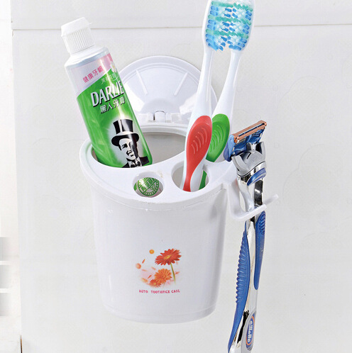 Multifunctional Toothbrush Racket Holder Storage Box Bathroom Makeup Accessories Products Sets Suction Hooks Kitchen Holder ...