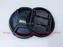 100 pcs Camera Lens Cap capa 49mm 52 72 67 62 58 55mm mm mm mm mm mm 77mm 82mm LOGO Para Nikon (observe o tamanho)