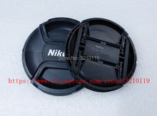 100pcs Camera Lens Cap cover 49mm 52mm 55mm 58mm 62mm 67mm 72mm 77mm 82mm LOGO For Nikon  (Please note size )