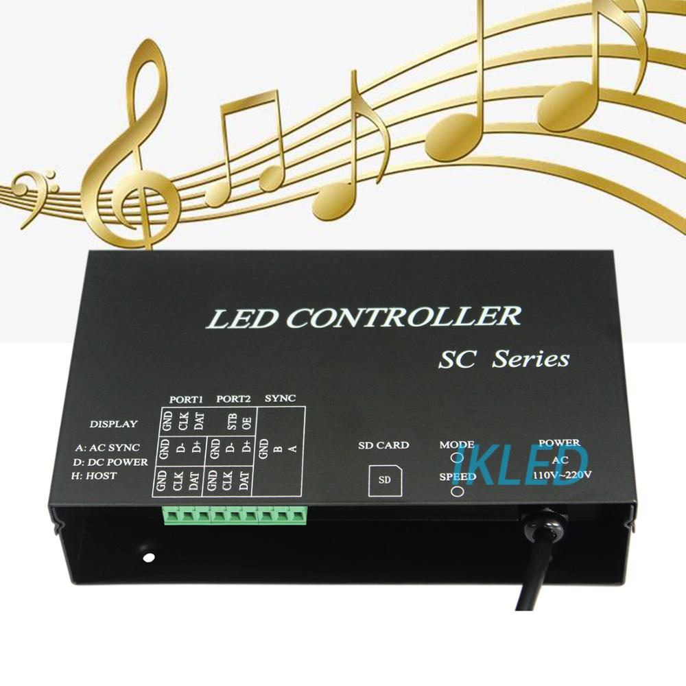 led music controller,2 ports drive 4096 pixels,support synchrony mode,DMX512,WS2812,UCS1903,SM16703 music controller,PC software image