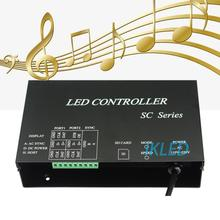 led music controller,2 ports drive 4096 pixels,support synchrony mode,DMX512,WS2812,UCS1903,SM16703 music controller,PC software