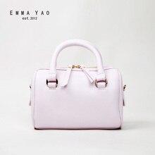 EMMA YAO frauen leder handtasche mode Eimer tasche kuh leder umhängetasche Koreanische beutel
