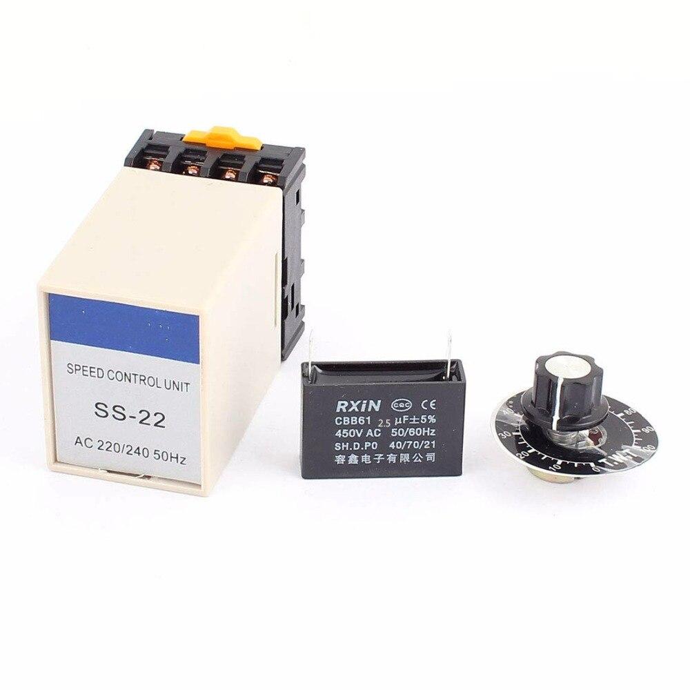 SS-22  20K Ohm Potentiometer 220V/240V Electric AC Motor Speed ControllerSS-22  20K Ohm Potentiometer 220V/240V Electric AC Motor Speed Controller