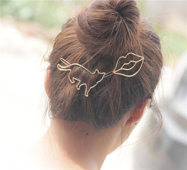 Women's Cat Shaped Hairpins