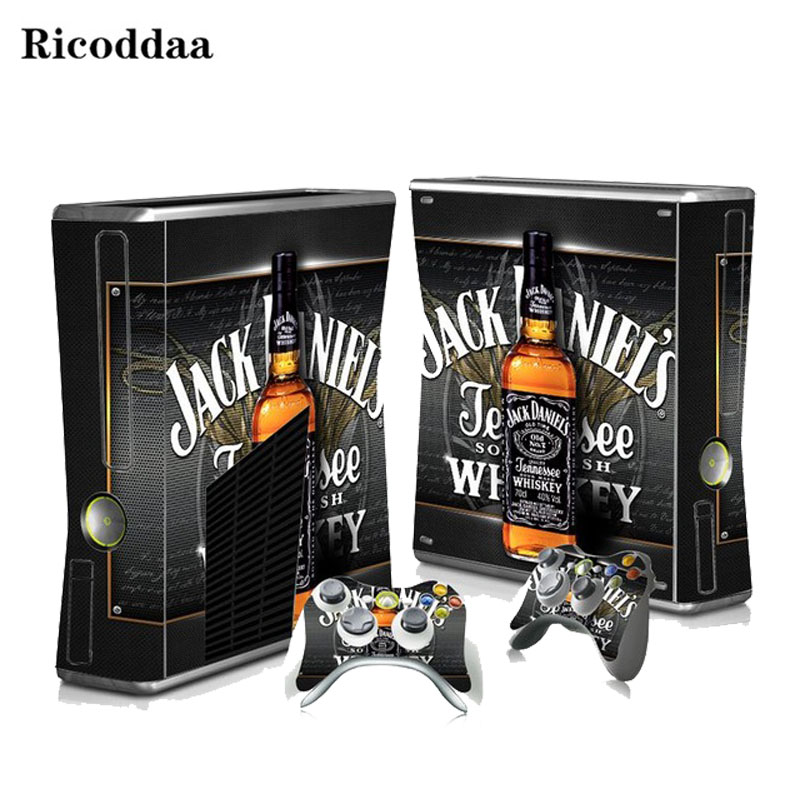 Vinyl Sticker for Xbox 360 Slim Console + 2 Controller Skins Cover Jogo For Microsft Xbox 360 Slim Jogo Para For Xbox Accessory