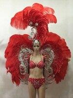 adult sexy halloween feather costumes bikini diamond performance carnival adult costumes crazy Samba carnaval costume for women