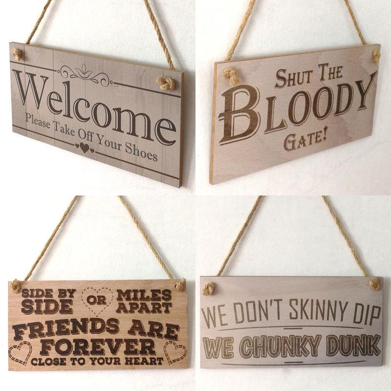 Новое сообщение доска деревянная подарок настенные двери Шик Висит дом Предупреждение знак деревянная доска Главная Декор сада Craft