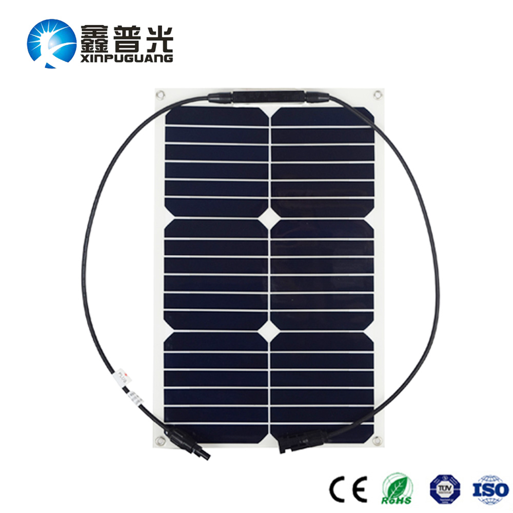 BOGUANG flexible Solar Panel efficient cell 18W module for 12V Battery Motorcycle Boat RV Fish Finder Maintainer Car Charger