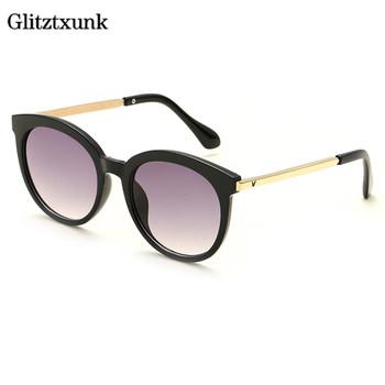 Glitztxunk 2018 okulary przeciwsłoneczne dla dzieci dla dziewczynek chłopcy okulary przeciwsłoneczne dla dzieci klasyczne modne okulary dla dzieci plaża Outdoor Sport gogle UV400 tanie i dobre opinie CN (pochodzenie) Dziewczyny Żywica Anti-odblaskowe 52mm Akrylowe 56mm