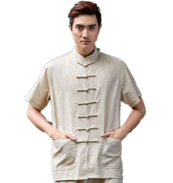 Free shipping Blend Martial Linen Arts Top mens shirt chinese traditional clothing kung fu Shirt wushu chinese shirt 4 color