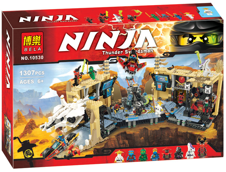 2017 Hot 10530  Ninja Caos  Building Blocks   Samurai X Cueva Figura Juguetes Para Los Ninos 1351pcs ninja figure samurai x cave chaos toys building blocks for children ninja 70596