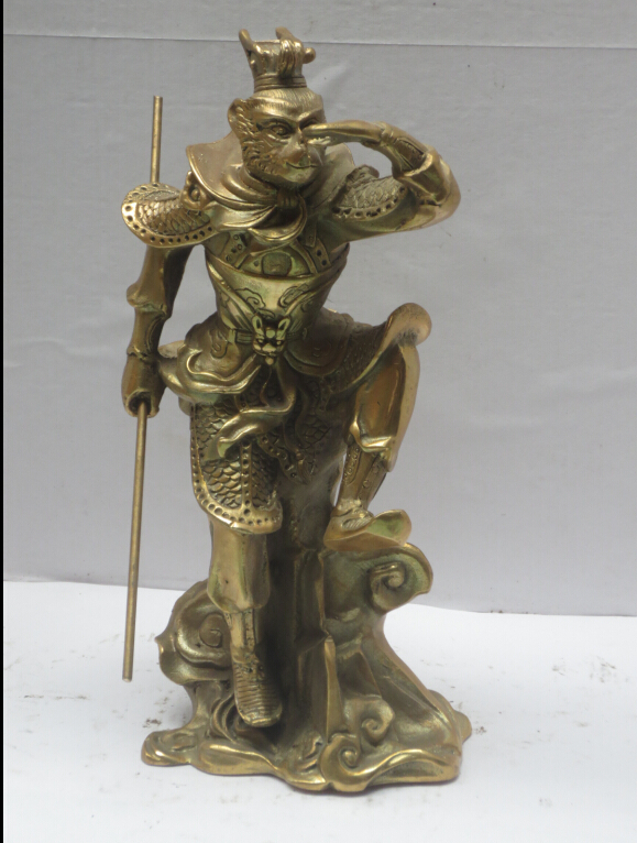 High inch metal crafts chinese brass carved journey to