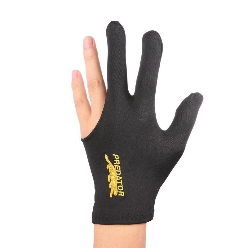 1Pcs Three Fingers Full-Finger Snooker Pool Cue Billiard Glove For Left Hand Lycra Fabrics Embroidery Billiard Accessory