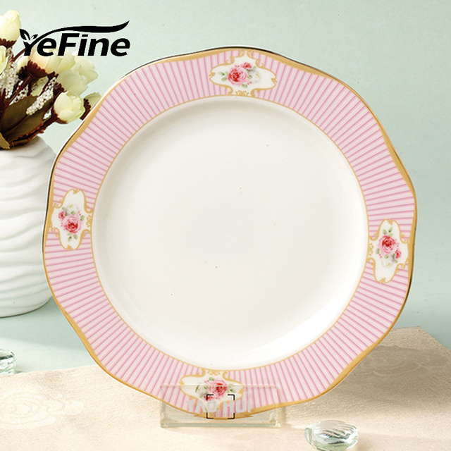 YeFine High Quality Ceramic Dessert Plates Luxury Bone China Snack Dishes 8 inch Cake Tray Advanced  sc 1 st  AliExpress.com & YeFine High Quality Ceramic Dessert Plates Luxury Bone China Snack ...