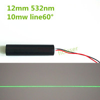 10mW 532nm DPSS Green Line 60 Degree Laser Module Industrial Areas 12mm