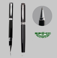 Wholesale RollerBall pen black 0.5 Tip HERO 7035 office and school stationery 30pcs/lot Free Shipping
