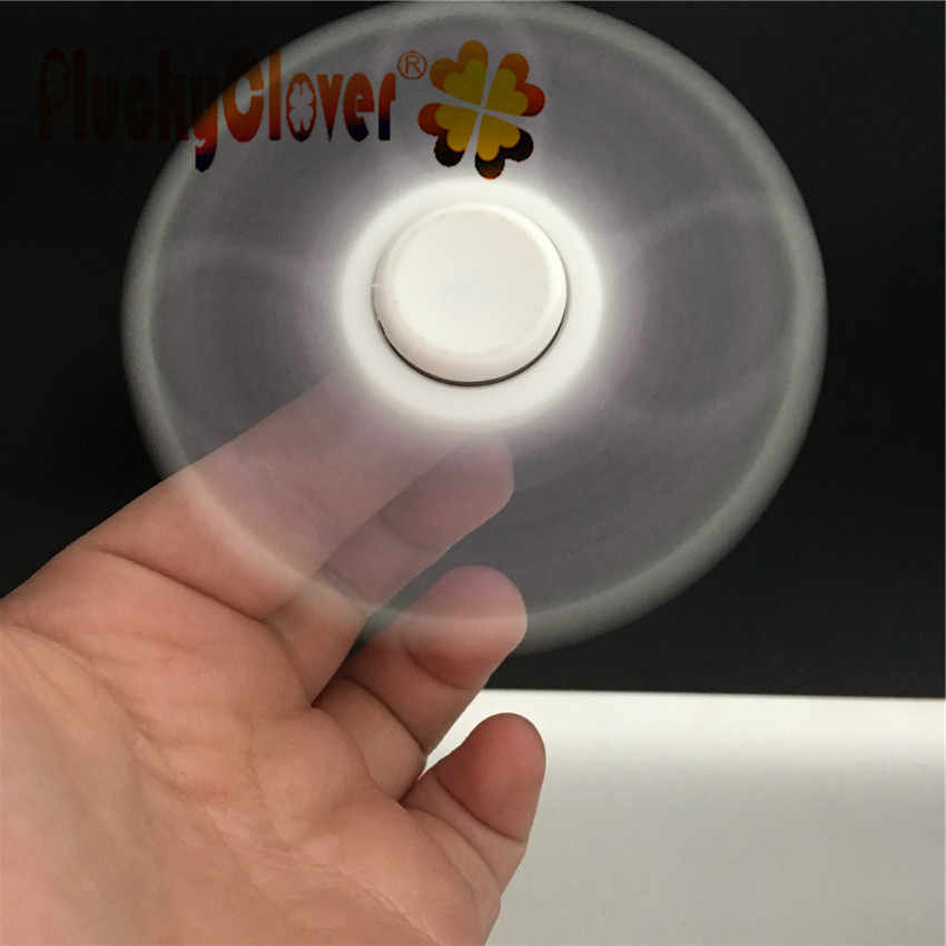 1pc สีขาวกรอบ Fidget Spinner พลาสติก ABS Tri-spinner สำหรับเด็กผู้ใหญ่ปลายนิ้ว Spiral Gyro ของเล่นความวิตกกังวลความเครียดบรรเทา EDC ของขวัญ