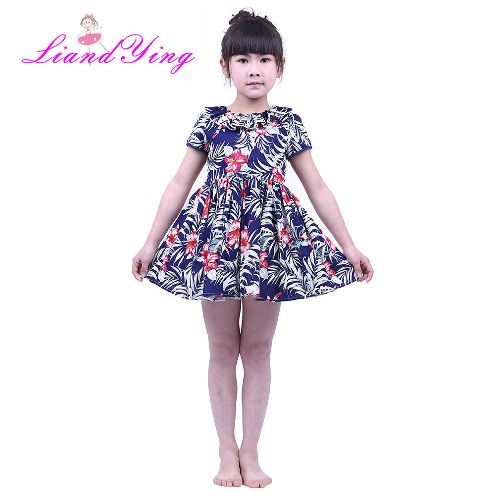 Flower Girls Dress Summer Baby Girl Clothes Teen Ropa Bebe Children Summer Dress Cotton Casual Dresses