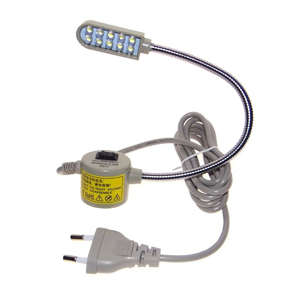 Светодиодный лампы швейная лампа на гибкой ножке магнитное крепление, бежевого и белого цветов инструменты регулируемый - Испускаемый цвет: EU plug