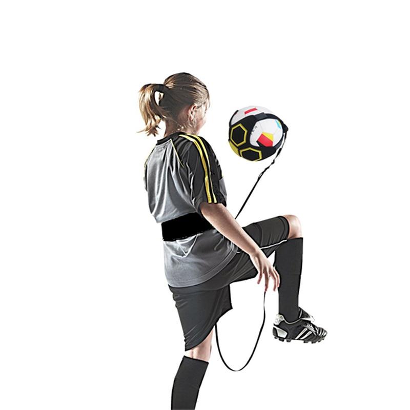 Football Kick Trainer Adjustable Swing  Soccer Training Aid Belt Ball  Game Control Hands Free Equipment Waist Belts Drop Ship