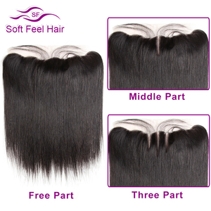 Image 5 - Soft Feel Hair Brazilian Straight Hair Bundles With Frontal Remy Human Hair 3 Bundles Lace Frontal Closure With Bundles 4Pcs/Lot