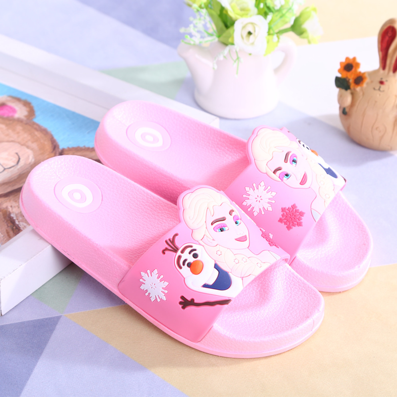 2018 New Boys Girls Slippers Summer Children's flip flops indoor bathroom Slippers Anti-skid Cartoon Beach Slippers