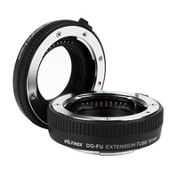 Free Shipping Viltrox DG-FU Auto Focus AF Extension Tube Ring 10mm 16mm Set Metal Mount for Fujifilm X Mount Macro Lens