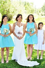 Coral Colored Bridesmaid Wedding Guest Dress Maid Of Honor Dresses For Weddings vestido de dama de honra rosa