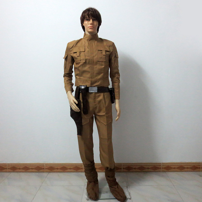 Movie Star Wars Luke Skywalker Cosplay Costume Full Set Halloween Costume Custom Made Any Size