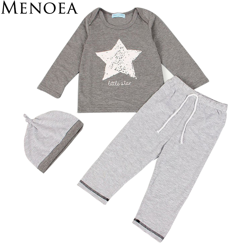 Retail new style 2017 fall and spring clothes Fashion style baby boys girls child sports suit (T-shirt + pants ) Free shipping free shipping 1pc retail 2016 spring girls fashion white with black star leggings