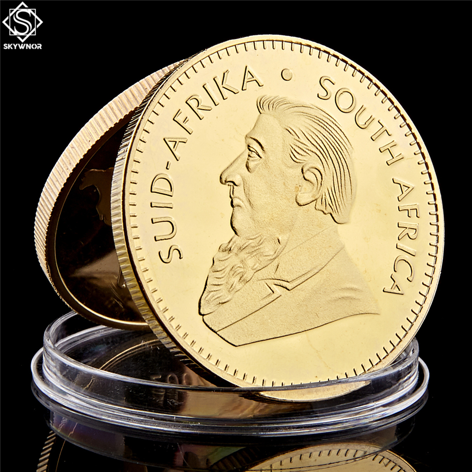 1967 South Africa Saudi Africa Krugerrand 1OZ Gold Coin Paul Kruger Token Value Collectible Coins