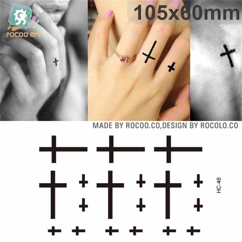 Body Art waterproof temporary tattoos paper for men and women sexy fashion 3d cross design small tattoo sticker HC1046
