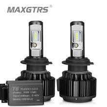 MAXGTRS H4 Hi/lo H7 H8 H11 9006 автомобилей светодиодный фары 9005 HB3 HB4 H1 H13 880 881 Высоковольтная шина белый 6000 K лампочки для замены лампы
