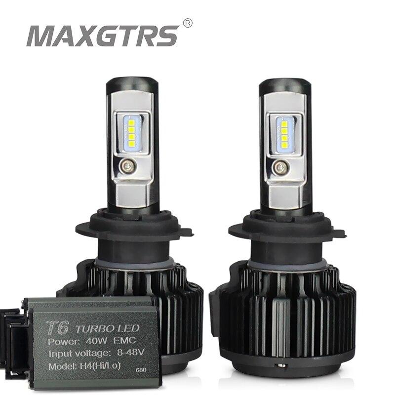 MAXGTRS H4 Hi/lo H7 H8 H11 9006 coche LED faros 9005 HB3 HB4 H1 H13 880 881 de alta potencia Canbus blanco 6000 K bombillas reemplazar lámpara
