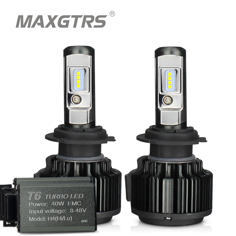 MAXGTRS H4 Hi/lo H7 H8 H11 9006 Carro LEVOU Faróis 9005 HB3 HB4 H1 H13 880 881 Alta poder Canbus Branco 6000 K Lâmpadas Substituir Lâmpada