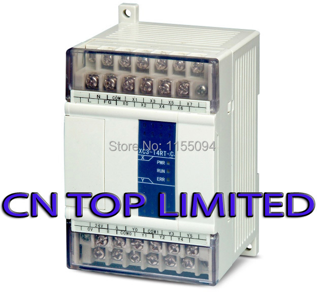 XC3-14RT-C XINJE PLC CPU DC24V 8 DI NPN 6 DO Relay&Transistors with programming cable & software New xc3 24r c plc cpu dc24v 14 di npn 10 do relay with new original