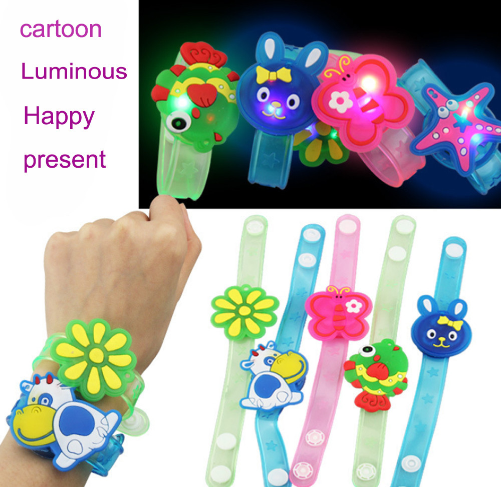 NEW High Quality Multicolor Light Flash Toys Wrist Hand Take Dance Party Dinner Party Gift For Children Kid LED Lamps Light